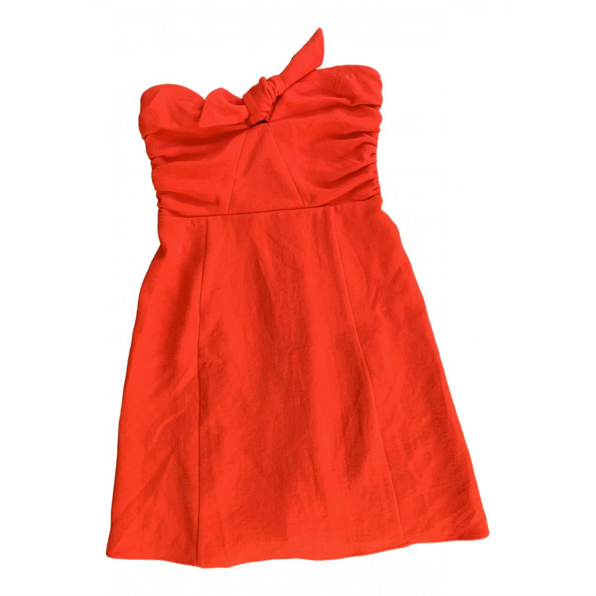 Sezane Spring Summer 2020 Kleid in  Rot Baumwolle