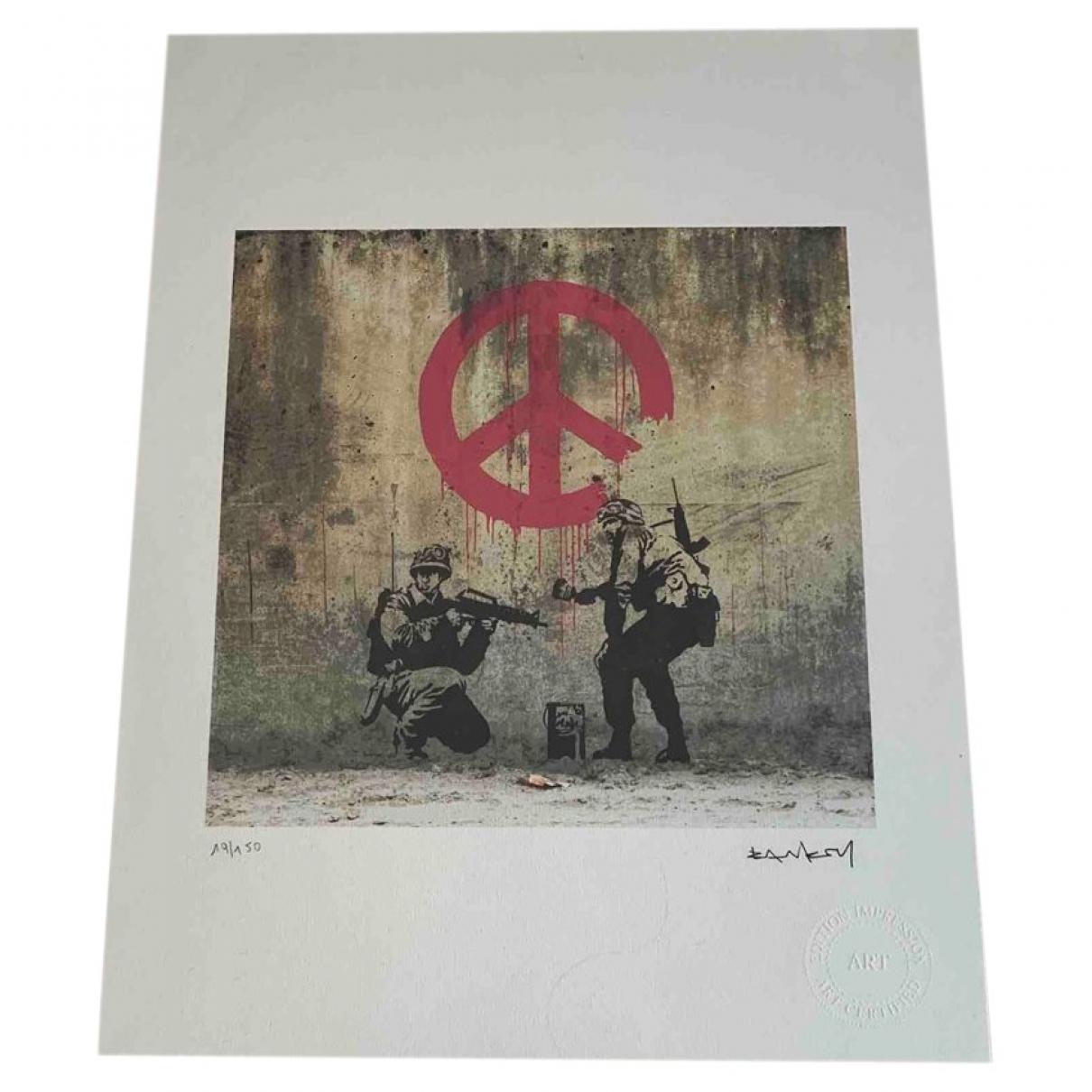 Banksy - Art   pour lifestyle en coton - bleu