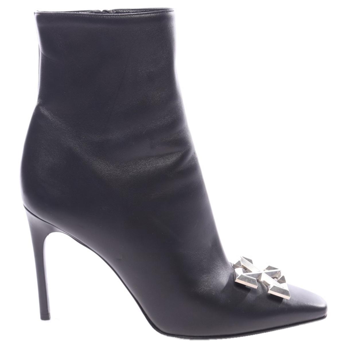 Off-white - Boots   pour femme en cuir - noir