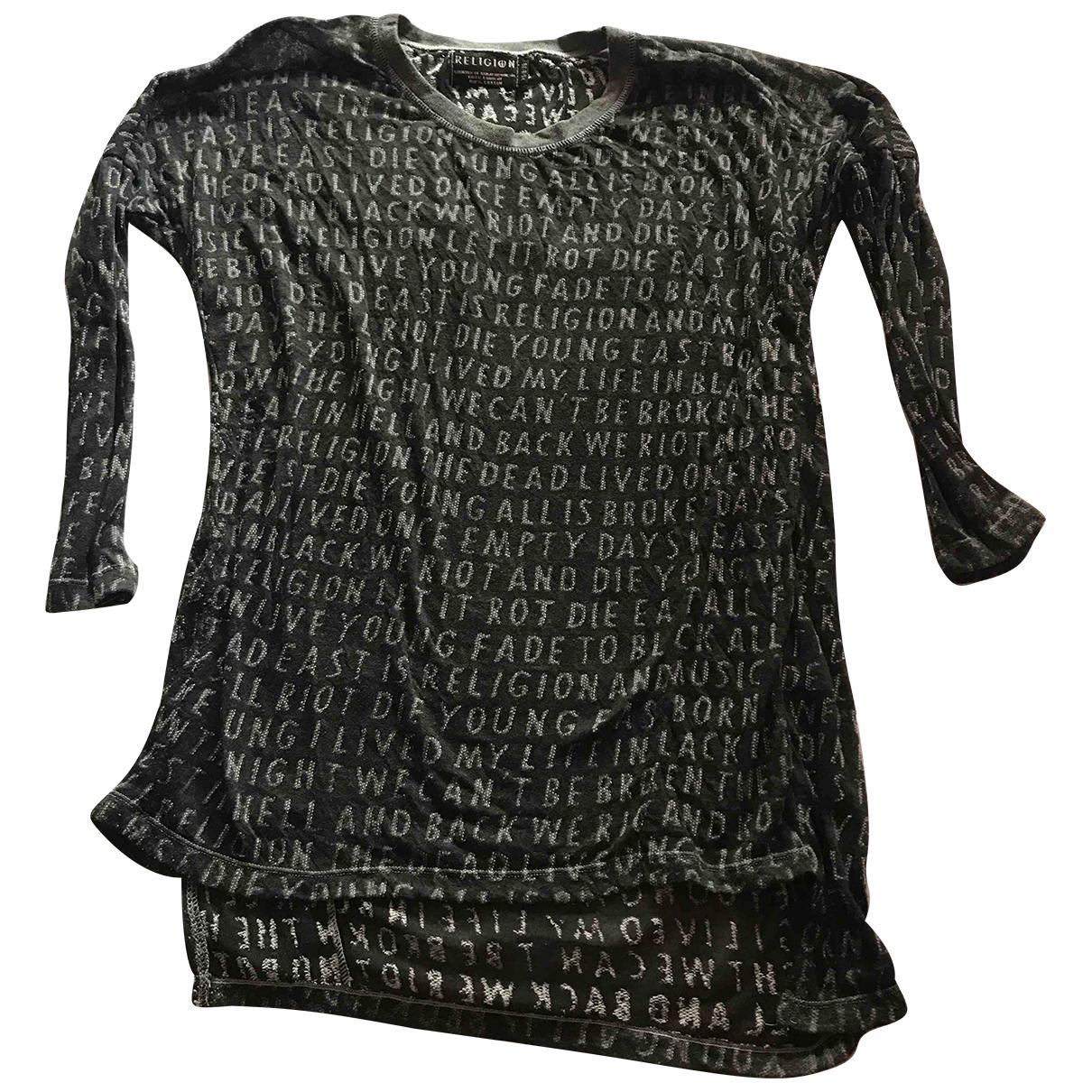 Religion - Top   pour femme en coton - gris