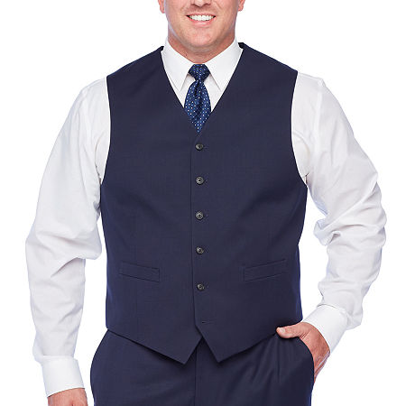 Stafford Super Suit Mens Classic Fit Suit Vest - Big and Tall, Xx-large , Blue