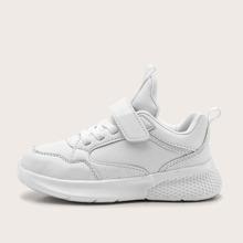 Maedchen Minimalistische Sneakers mit Klettverschluss