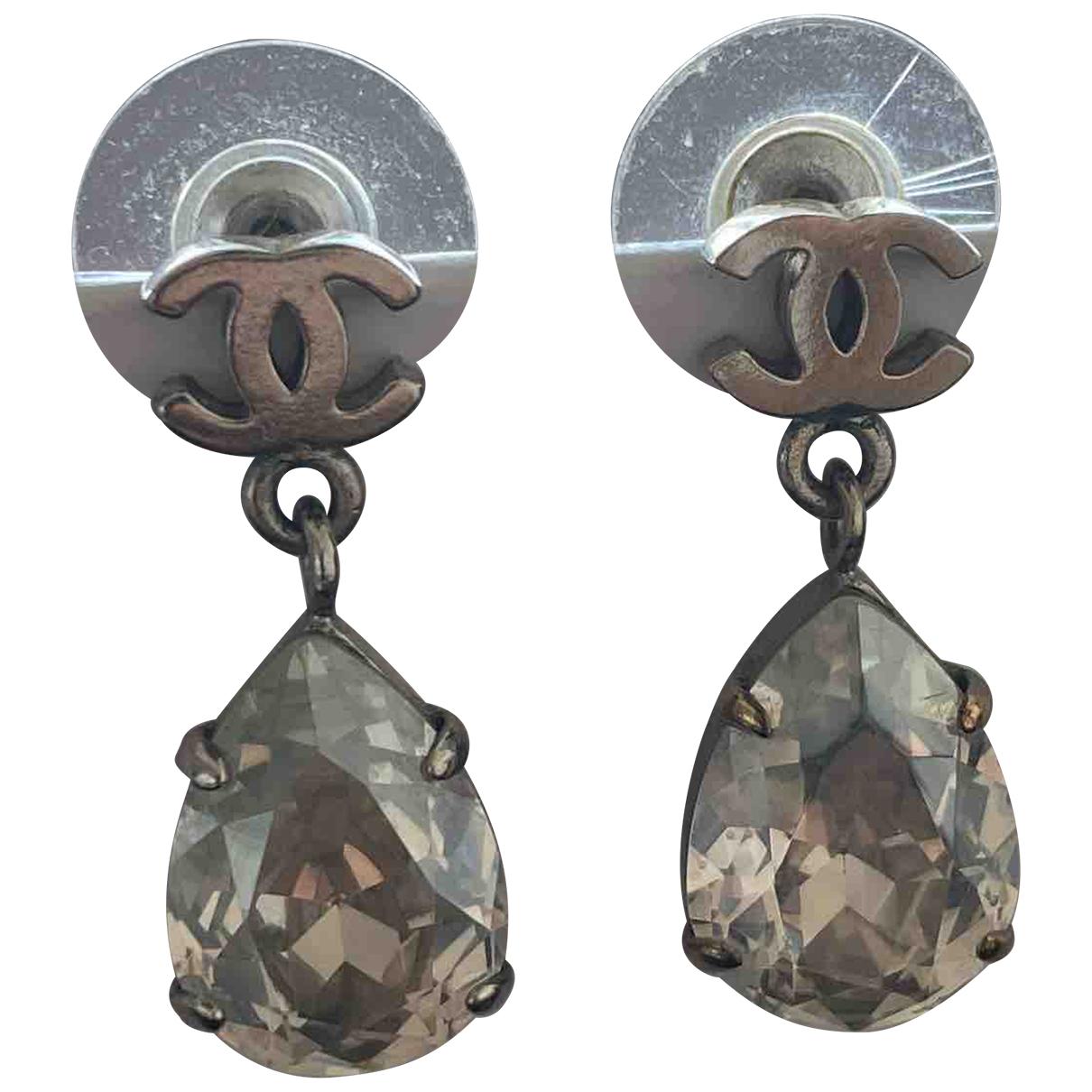 Chanel CC Silver Metal Earrings for Women \N