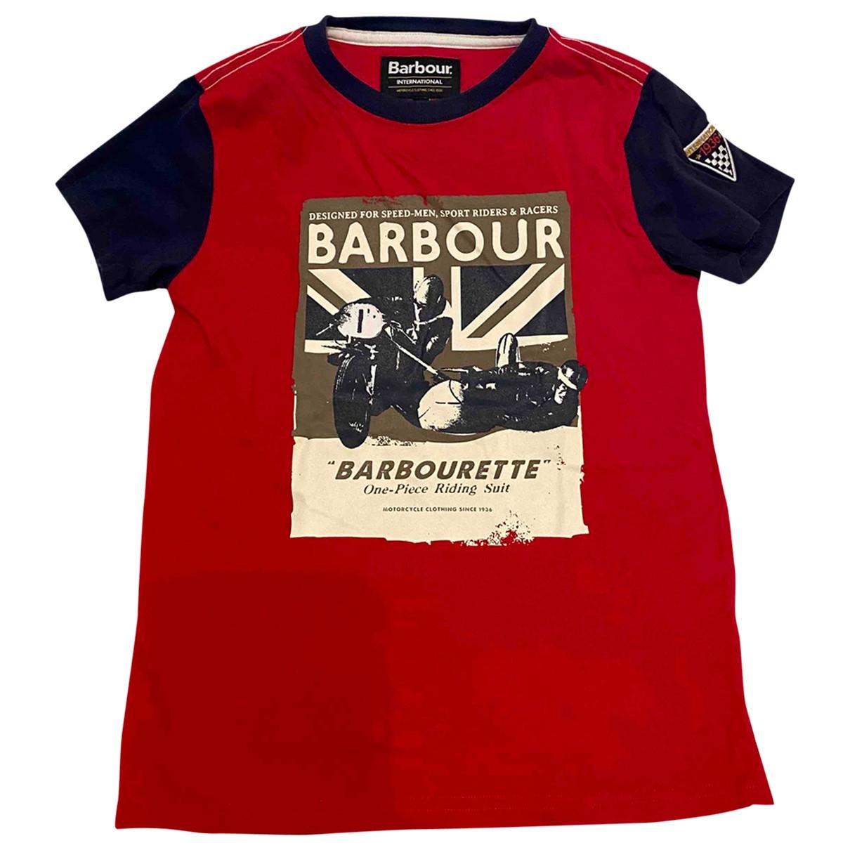 Barbour - Top   pour enfant en coton - rouge