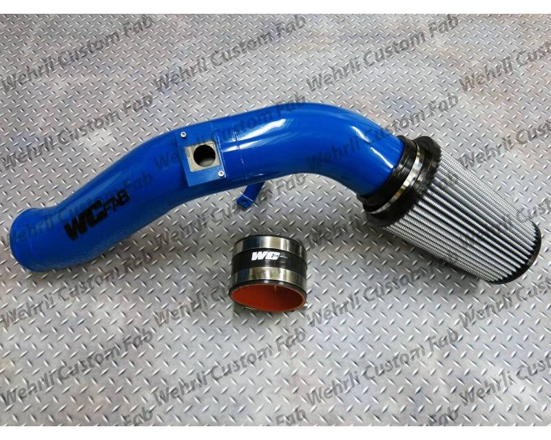WCFab 2003-2007 6.0 Powerstroke 4 Inch Intake Kit Gloss White Single Stage Powder Coating