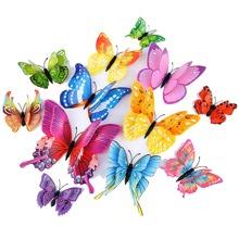 12 piezas pegatina de pared de mariposa 3D
