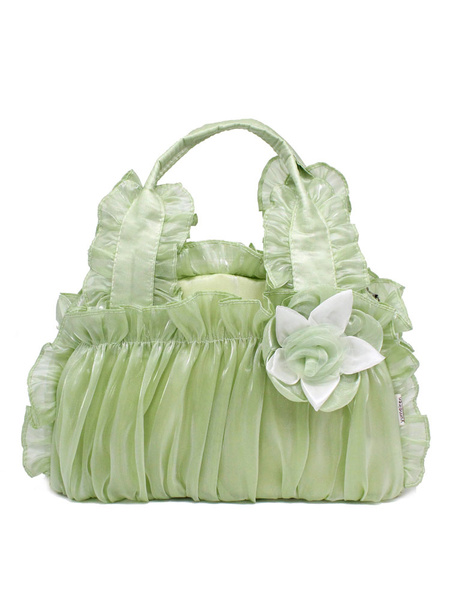 Milanoo Classic Lolita Bag Ruffle Flower Victorian Style Lolita Handbag