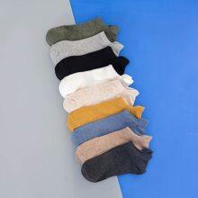 9 pares calcetines de hombres unicolor