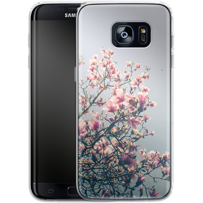 Samsung Galaxy S7 Edge Silikon Handyhuelle - She Bloomed Everywhere She Went von Joy StClaire