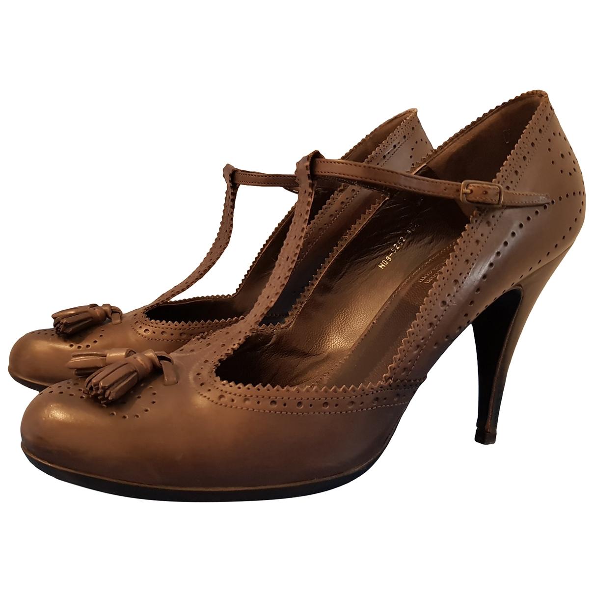 Pedro Garcia \N Brown Leather Heels for Women 40.5 EU