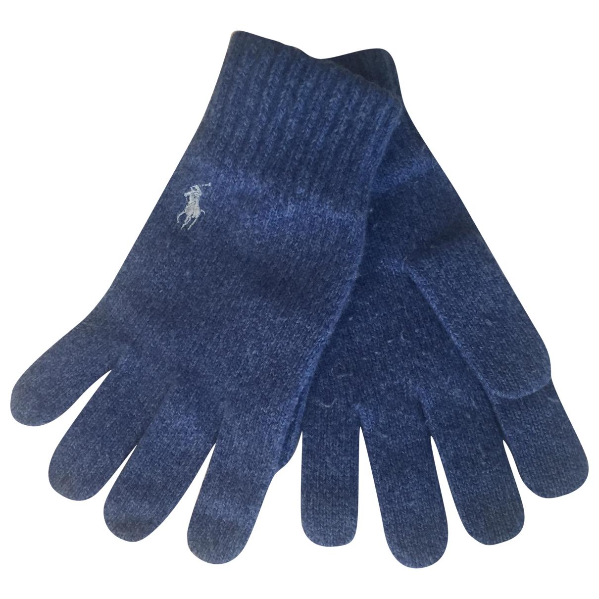 Polo Ralph Lauren \N Blue Wool Gloves for Men L International