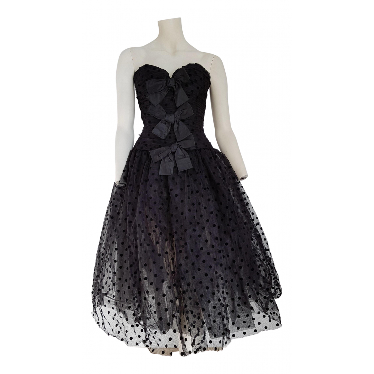 Non Signé / Unsigned \N Black Silk dress for Women 38 FR