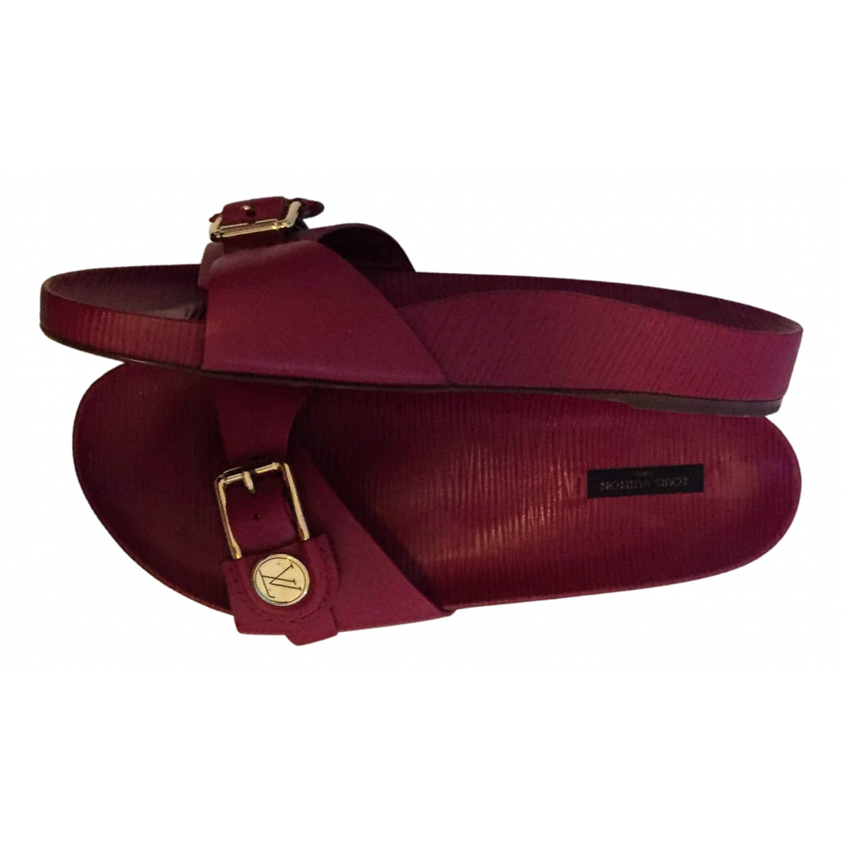 Louis Vuitton \N Sandalen in  Rot Leder