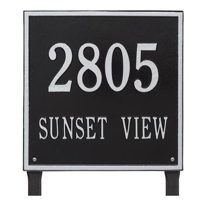 2120BS Personalized Square Plaque - Estate - Lawn - 2 line in