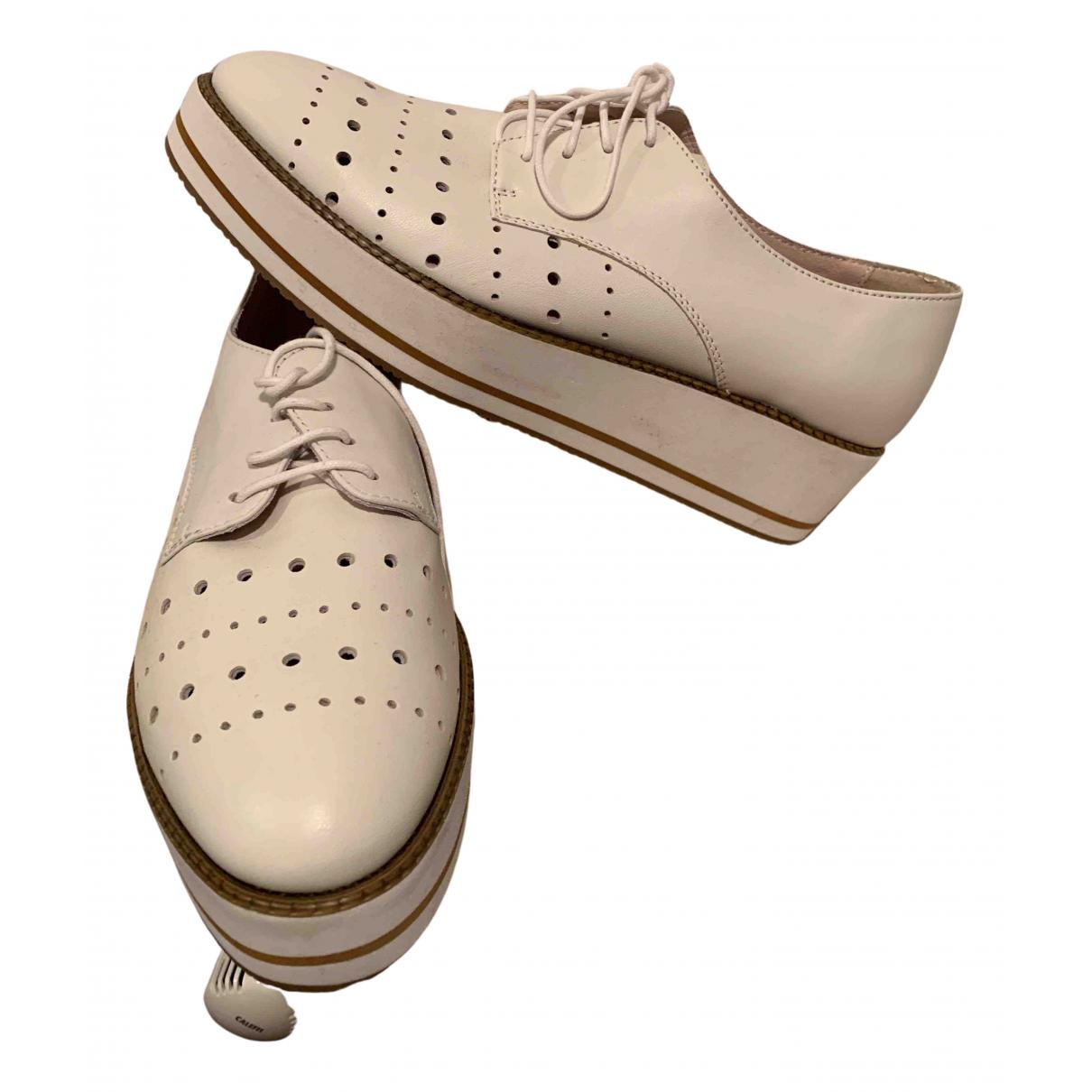 Tosca Blu \N Sneakers in  Weiss Leder