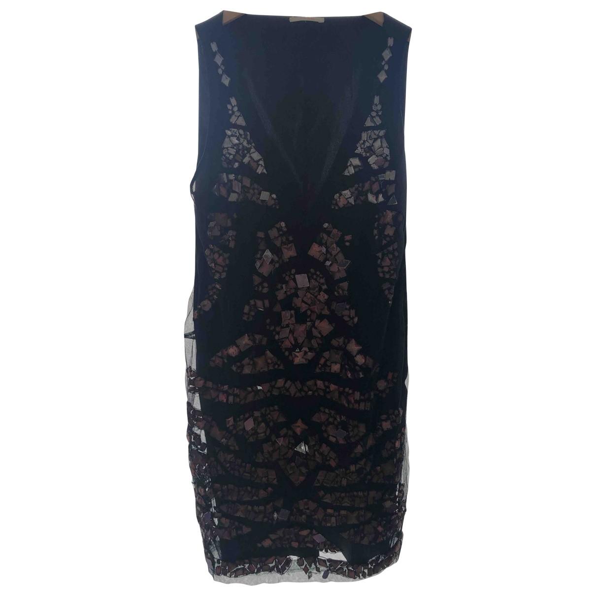 Amen Italy - Robe   pour femme en soie - noir