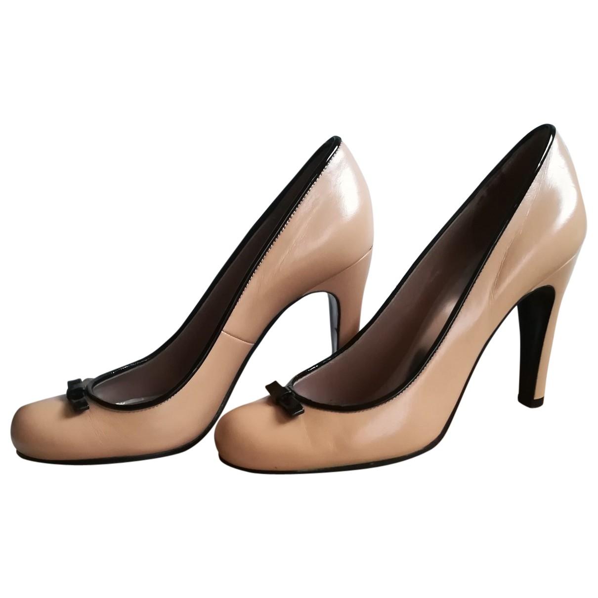 Marc By Marc Jacobs \N Beige Leather Heels for Women 37 EU