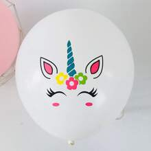 10pcs Unicorn Print Balloon Set