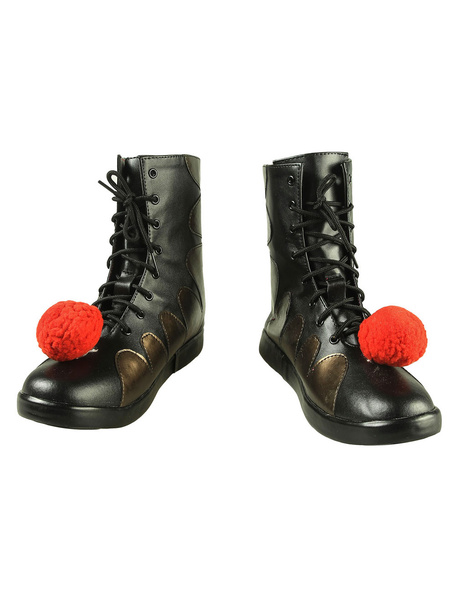 Milanoo Pennywise The Dancing Clown Cosplay In It Chapter Two American Film Black PU Cosplay Shoes Halloween