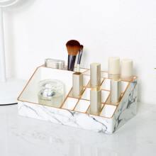 Aufbewahrungsbox fuer Kosmetik mit Marmor Muster