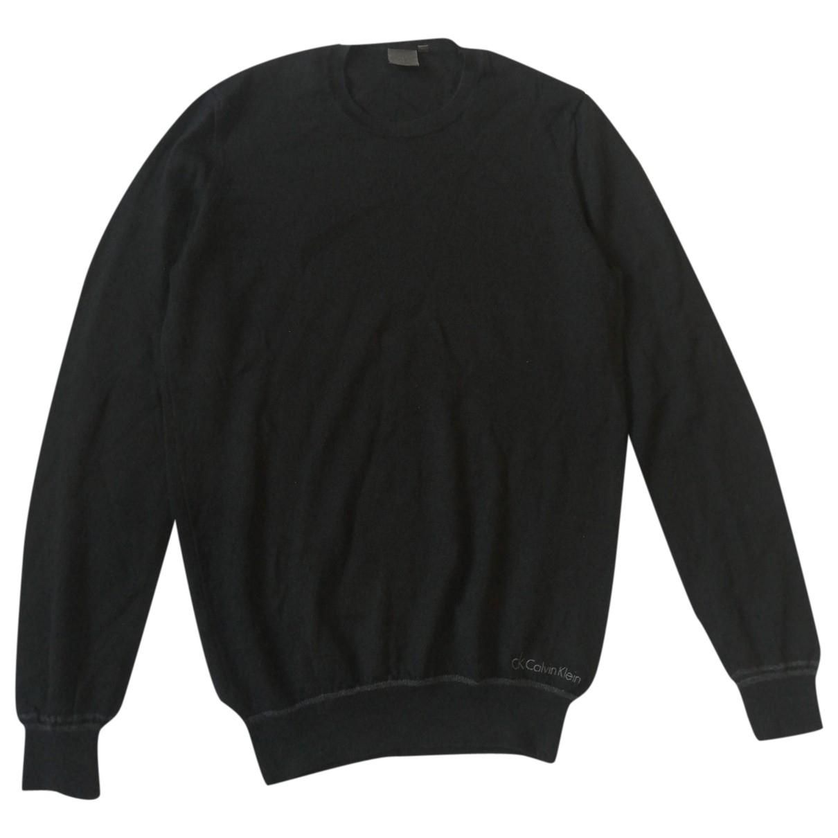 Calvin Klein \N Pullover.Westen.Sweatshirts  in  Schwarz Wolle