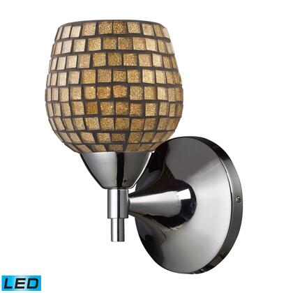 10150/1PC-GLD-LED Celina 1-Light Sconce in Polished Chrome and Gold Glass -