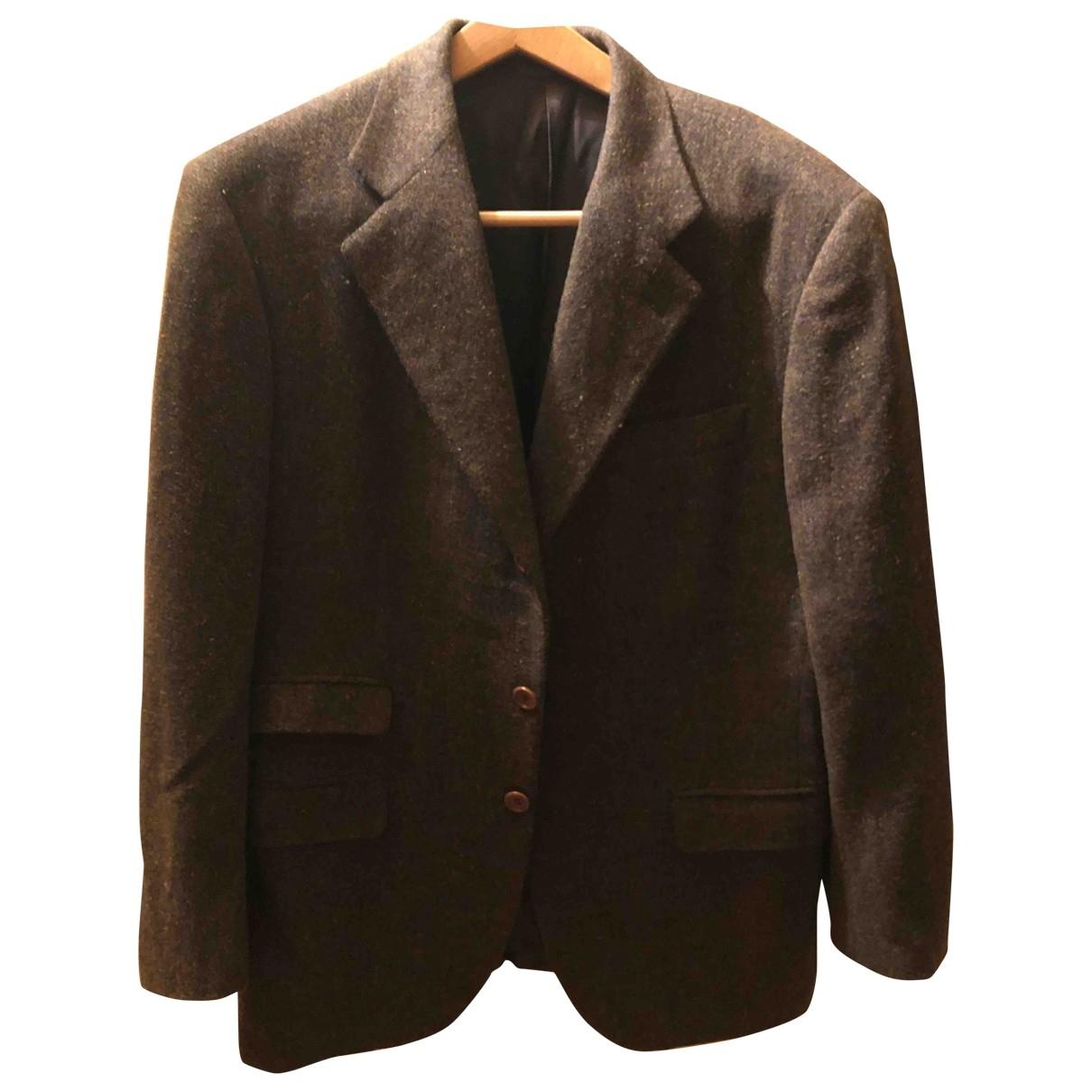 Isaia - Vestes.Blousons   pour homme en laine - marron