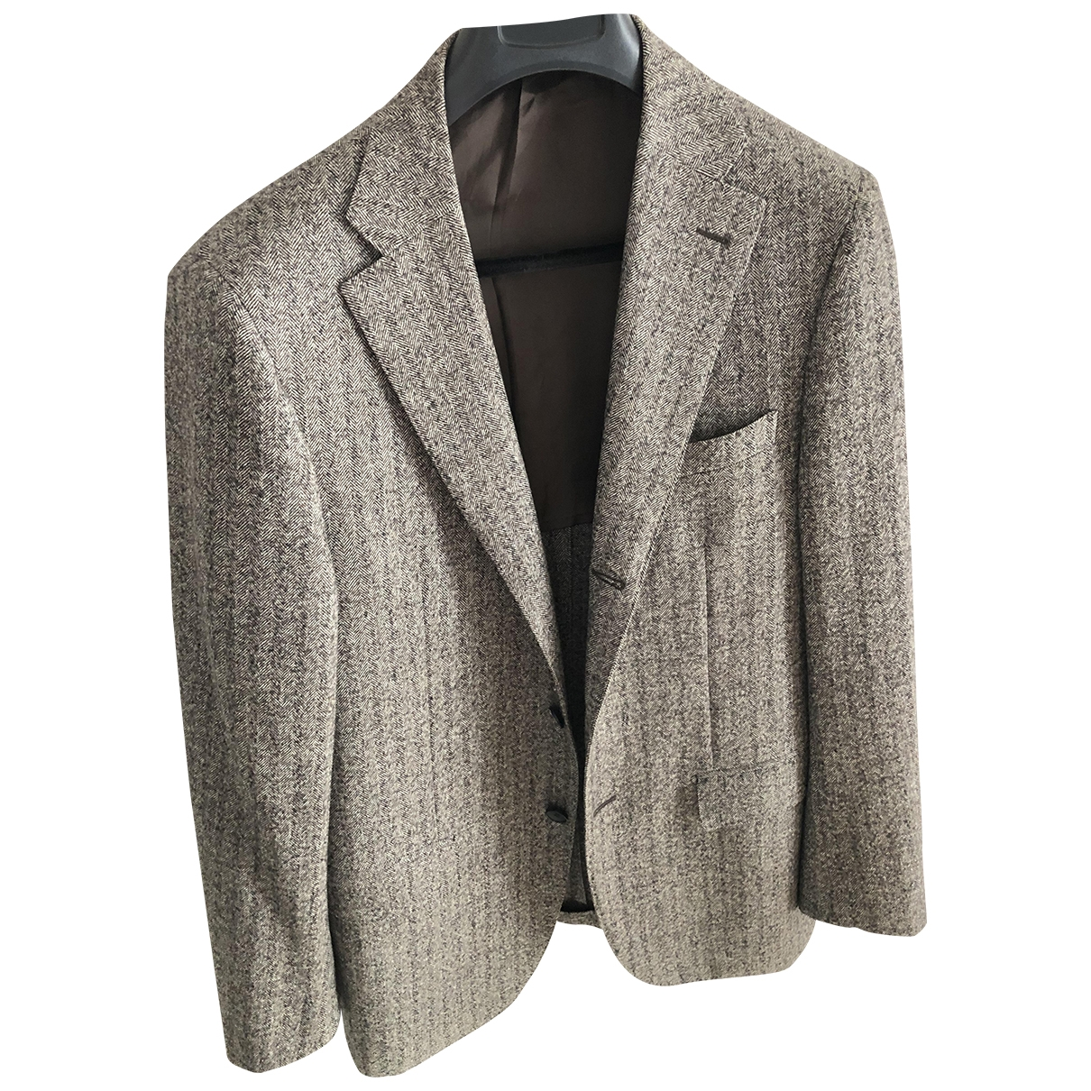 Non Signé / Unsigned \N Brown Wool jacket  for Men 52 IT