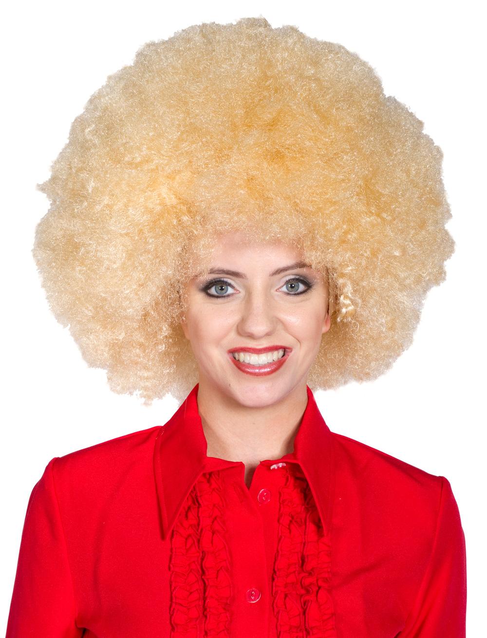 Kostuemzubehor Peruecke Afro blond
