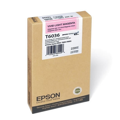 Epson T603600 Original Vivid Light Magenta Ink Cartridge
