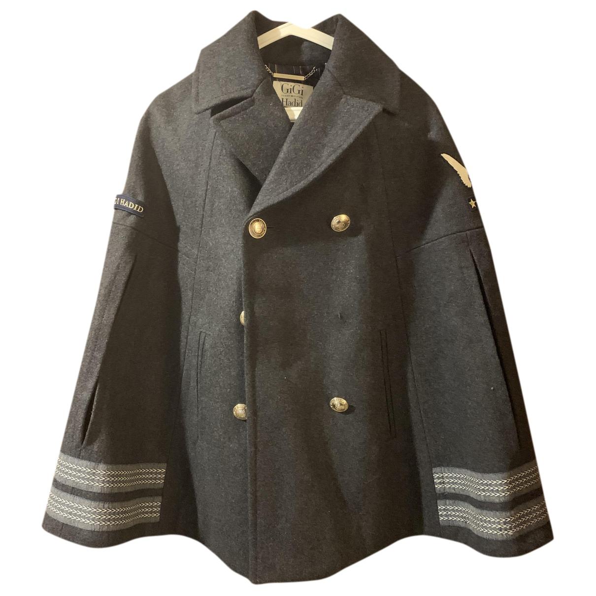 Gigi Hadid X Tommy Hilfiger - Manteau   pour femme en lin - gris
