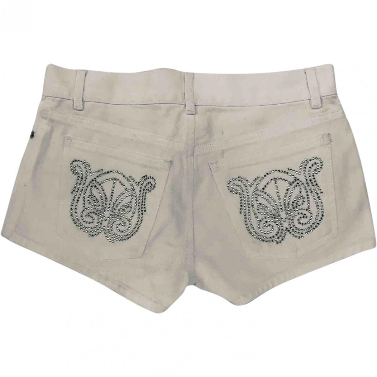 Red Valentino Garavani \N White Cotton Shorts for Women 42 IT