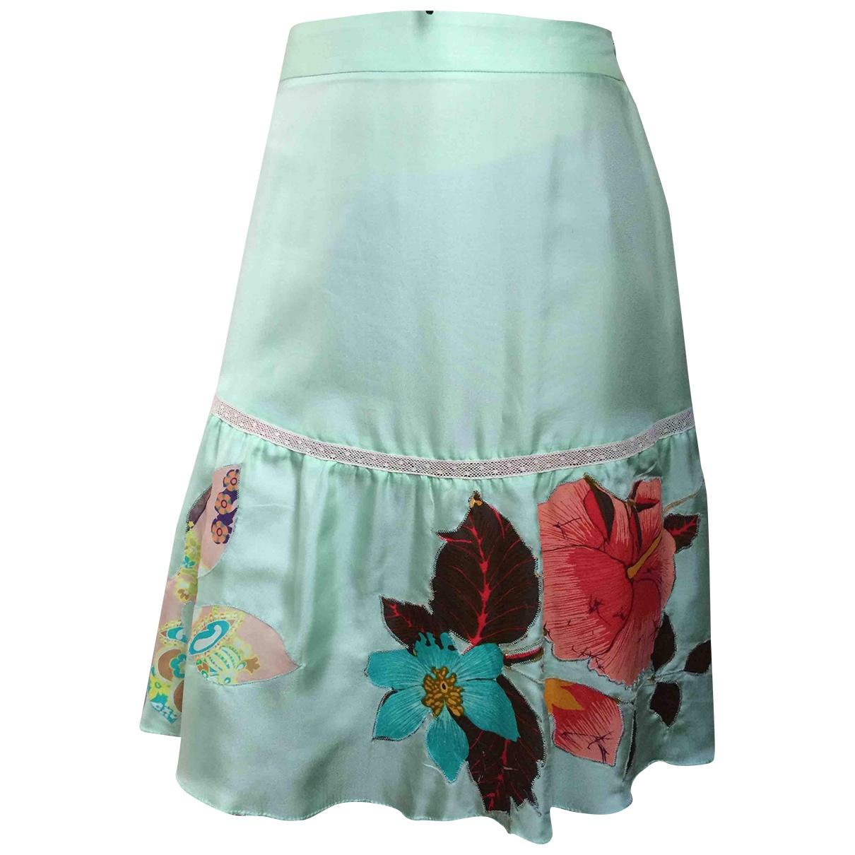 Christian Lacroix \N Green Silk skirt for Women 36 FR
