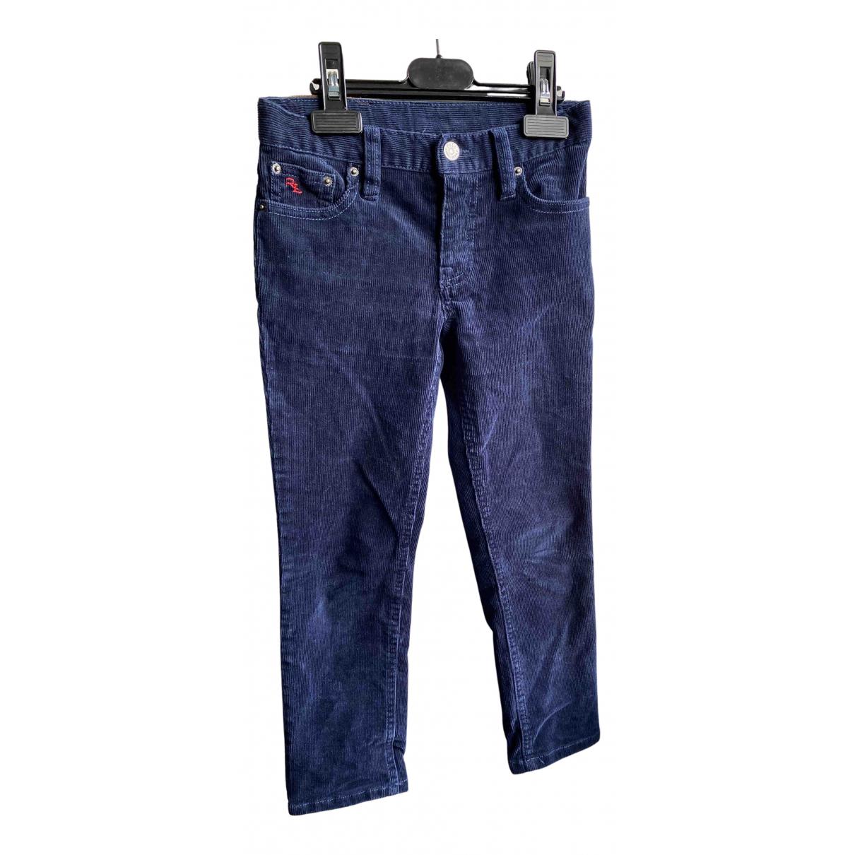 Polo Ralph Lauren - Pantalon   pour enfant en coton - marine