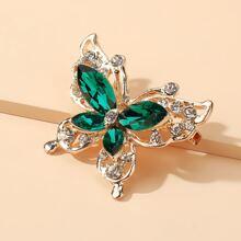 Brosche mit Kristall Schmetterling Design