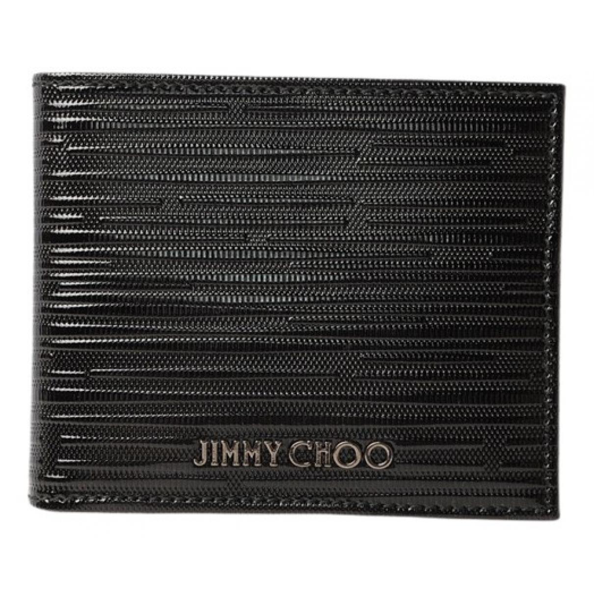Jimmy Choo \N Portemonnaie in  Schwarz Lackleder