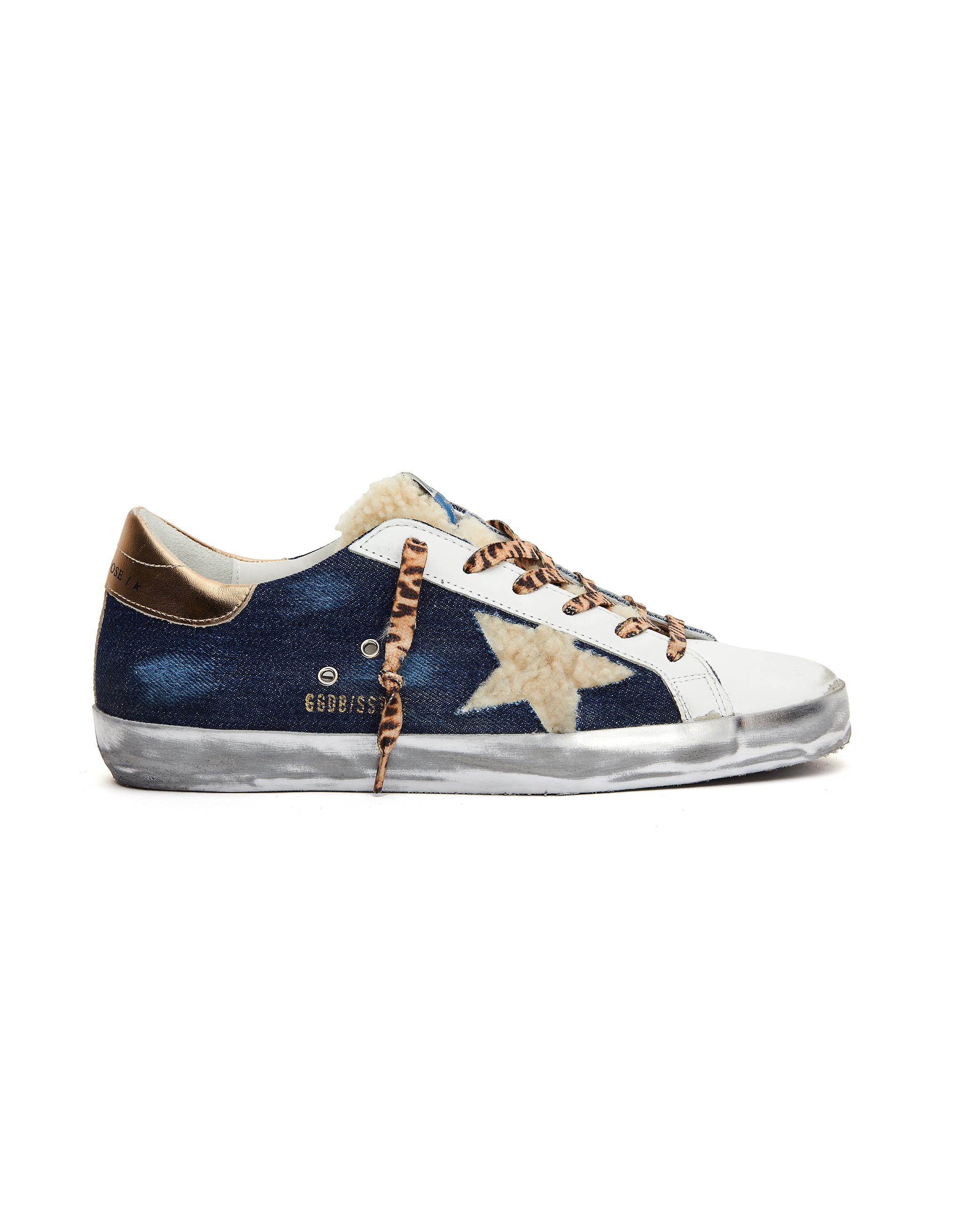 Golden Goose Blue Denim Superstar Sneakers