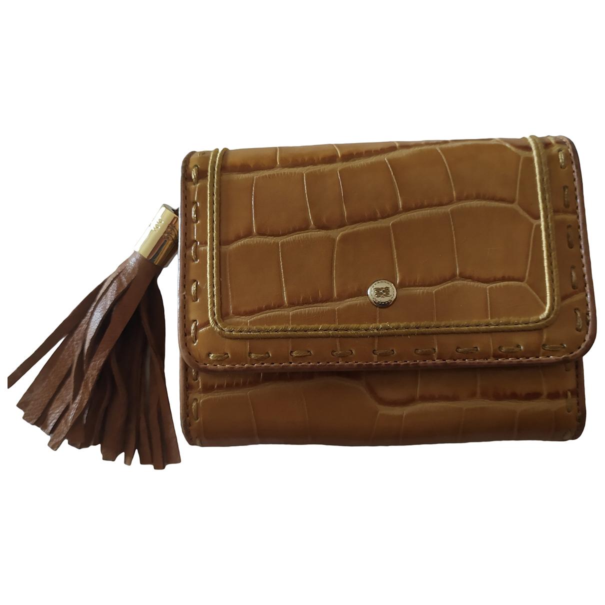 Lancel \N Camel Exotic leathers wallet for Women \N