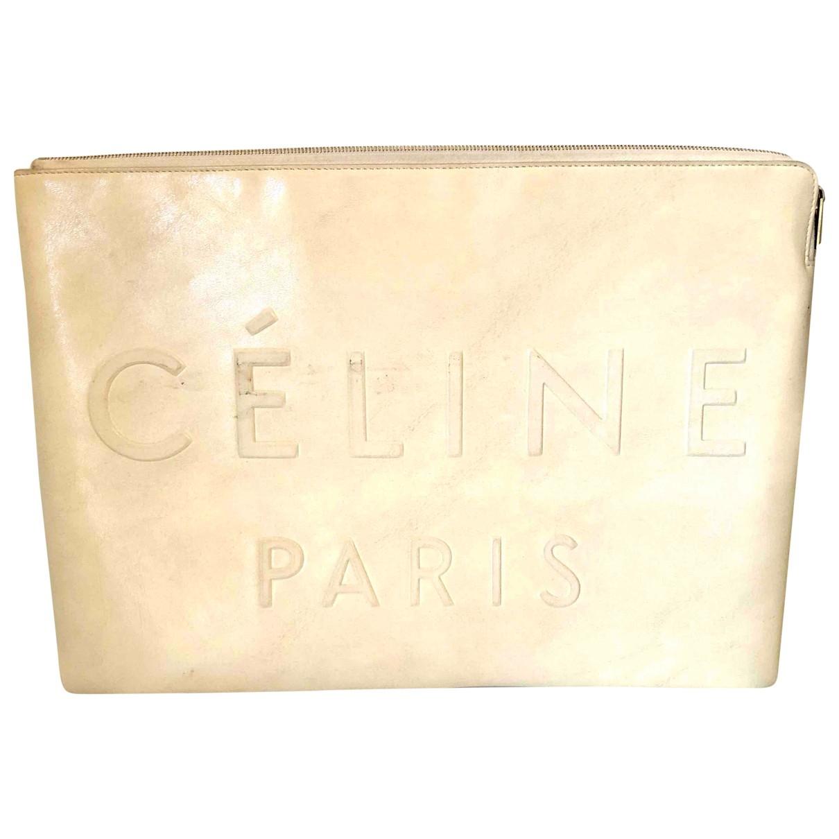 Celine - Pochette   pour femme en cuir - blanc