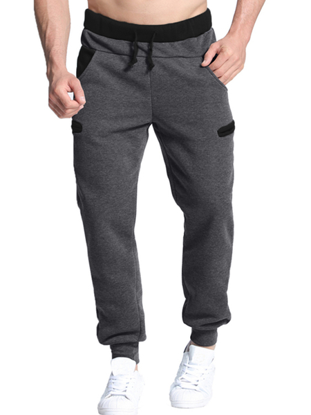 Yoins INCERUN Men Contrast Back Drawstring Waist Sweatpants