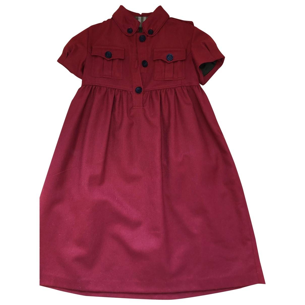 Burberry \N Red Wool dress for Kids 12 years - XS FR