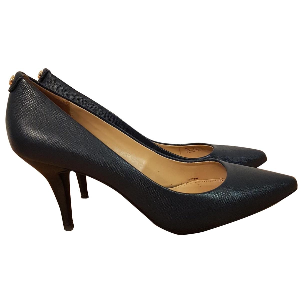 Michael Kors \N Navy Leather Heels for Women 38 EU