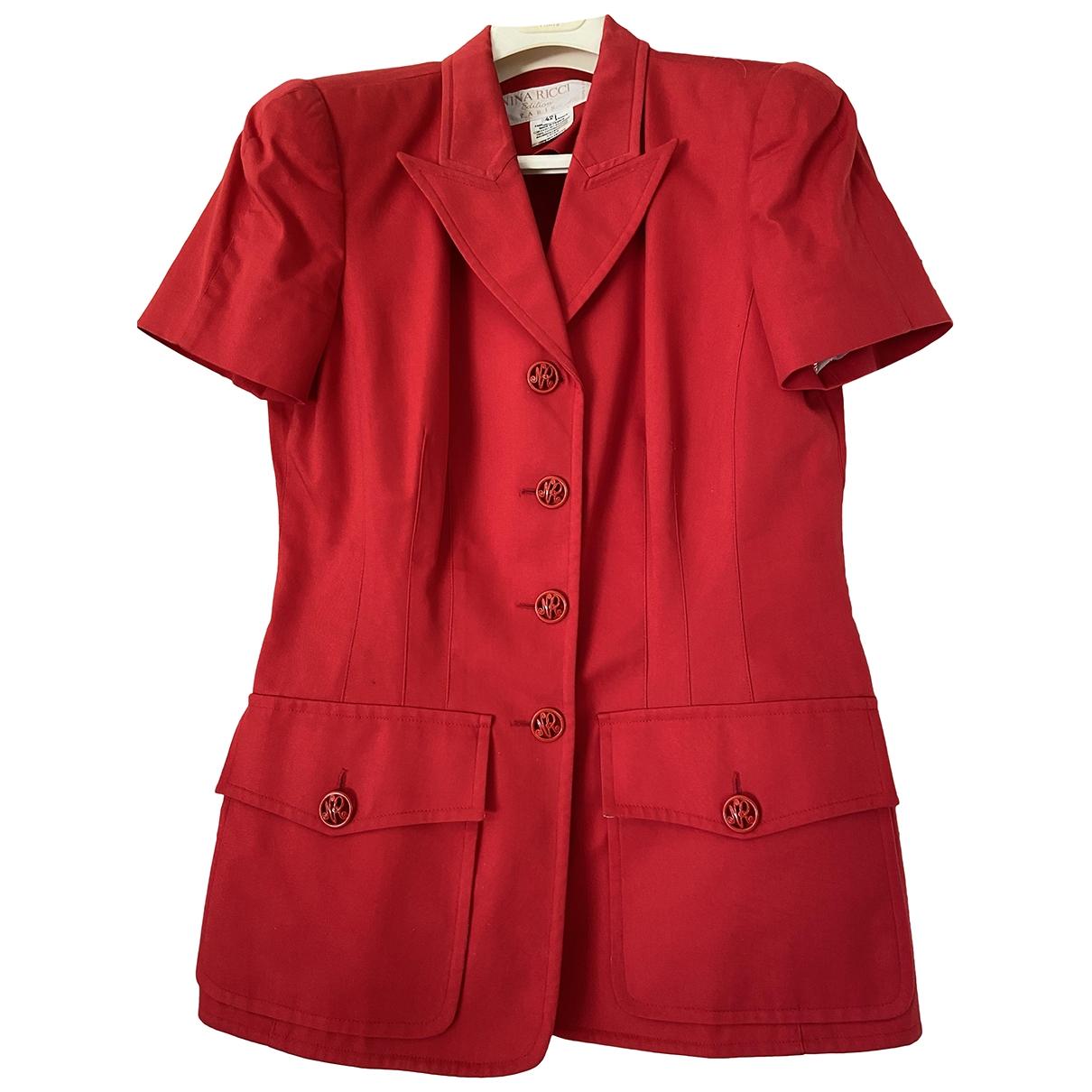 Nina Ricci \N Red Cotton jacket for Women 42 FR