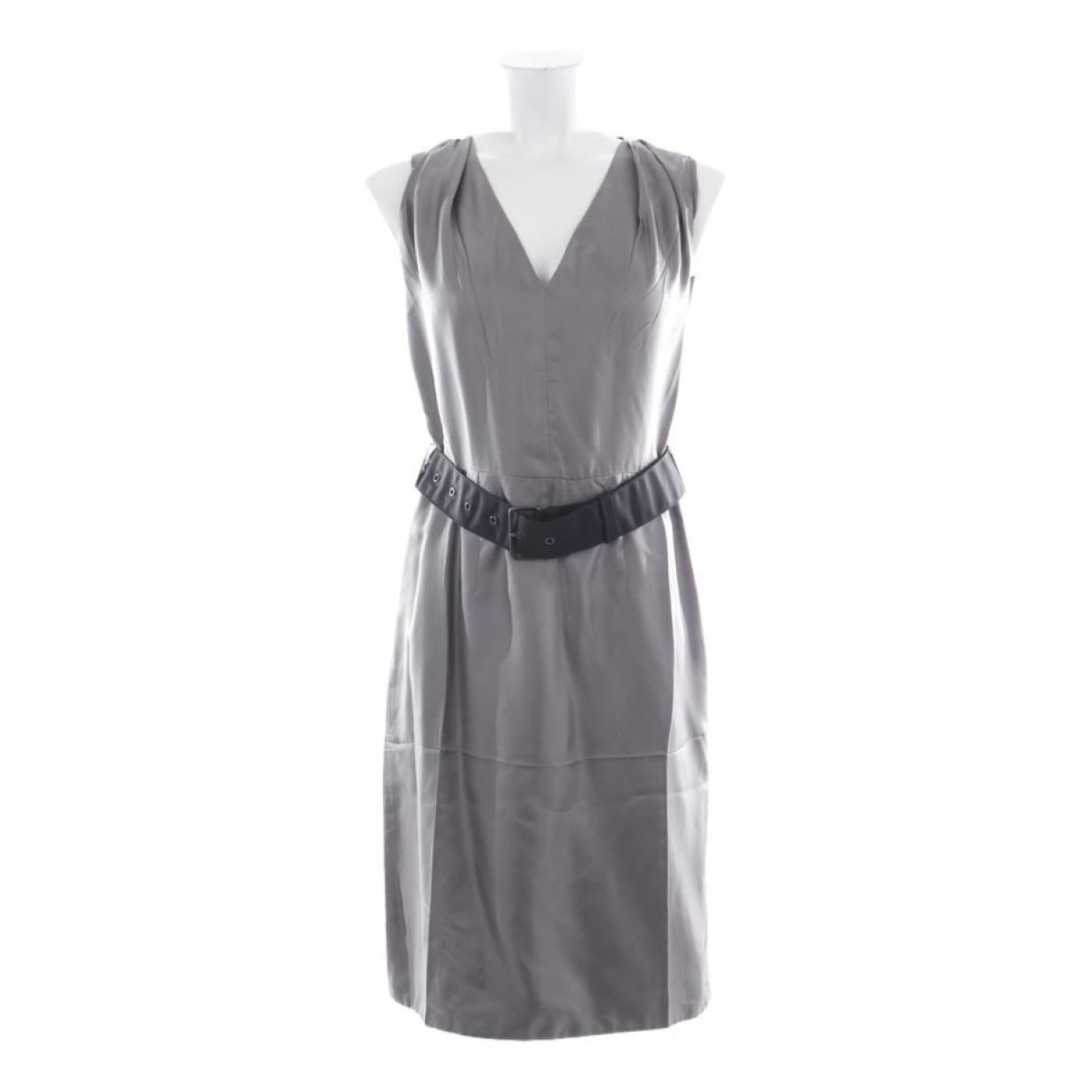Prada \N Kleid in  Grau Seide