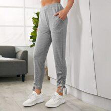 Drawstring Hem Sports Pants