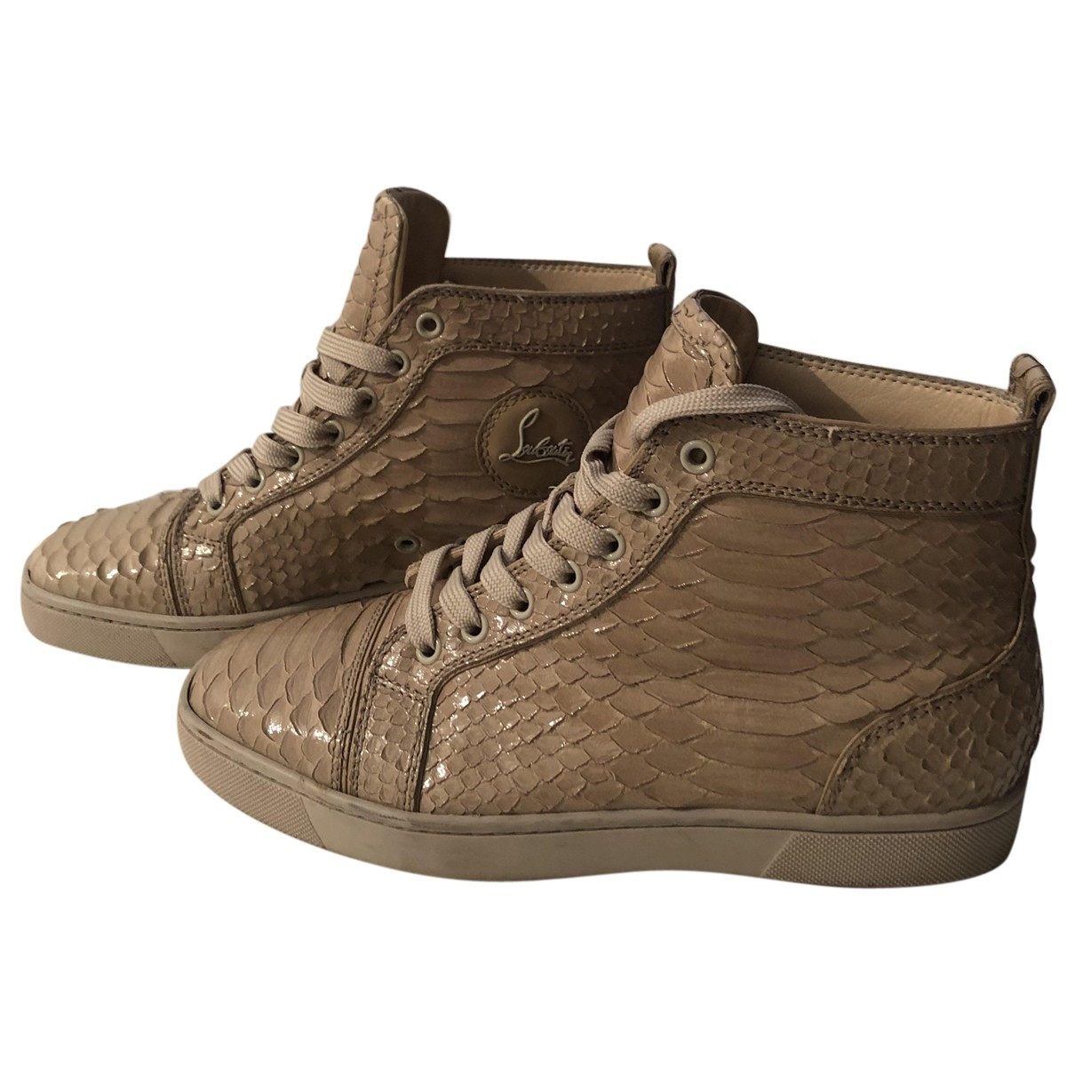 Christian Louboutin \N Beige Python Trainers for Women 40 EU