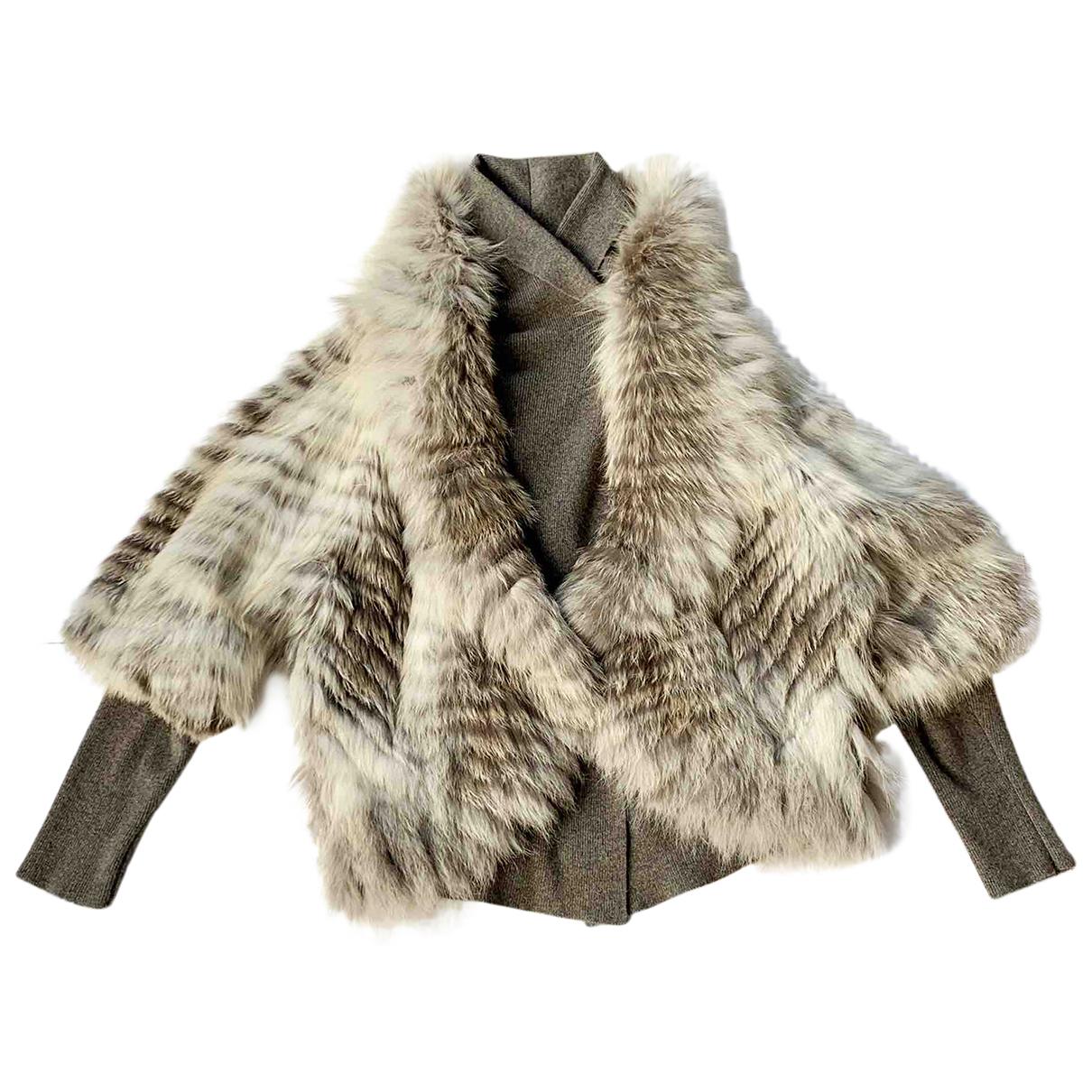 Yves Salomon N Grey Fox jacket for Women 38 FR
