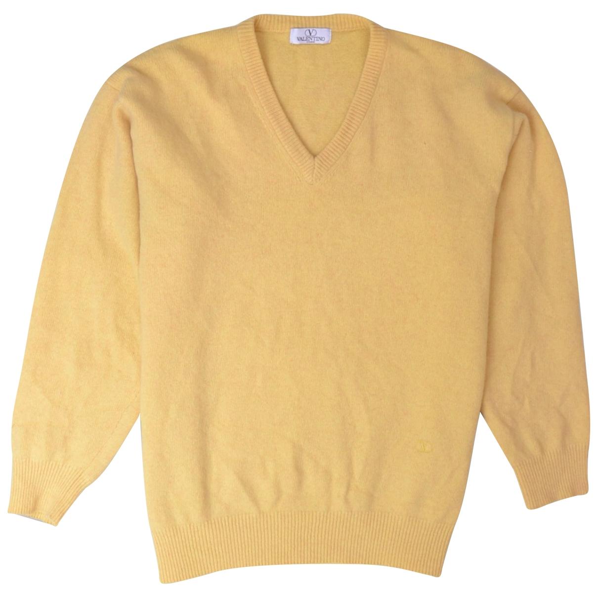 Valentino Garavani \N Pullover.Westen.Sweatshirts  in  Gelb Wolle