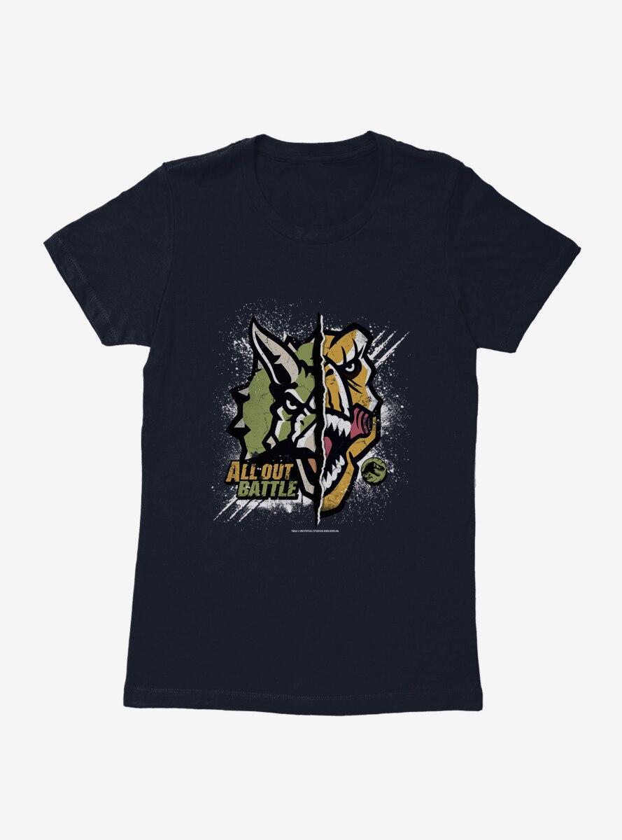 Jurassic World All Out Battle Womens T-Shirt