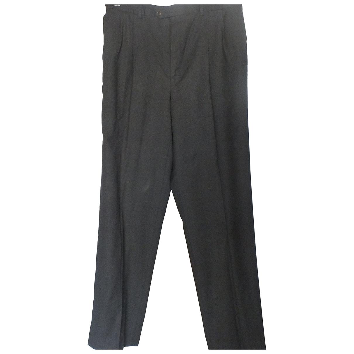 Valentino Garavani \N Anthracite Wool Trousers for Men 54 IT